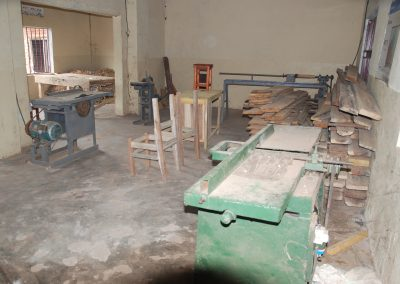 The carpentry room